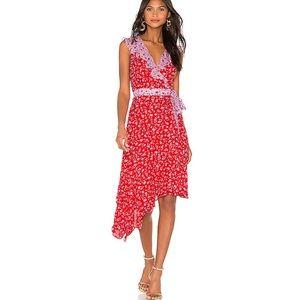 Parker Jennifer mixed pattern midi dress in Kaia